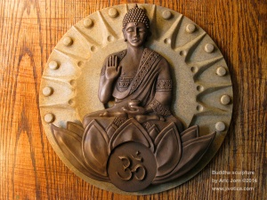 Buddha-Bronze-on-stone